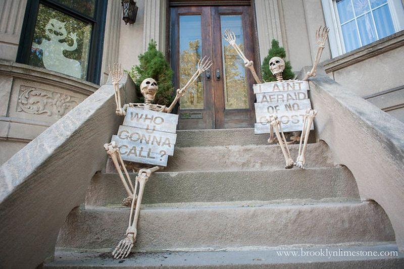 Skeletons on the steps