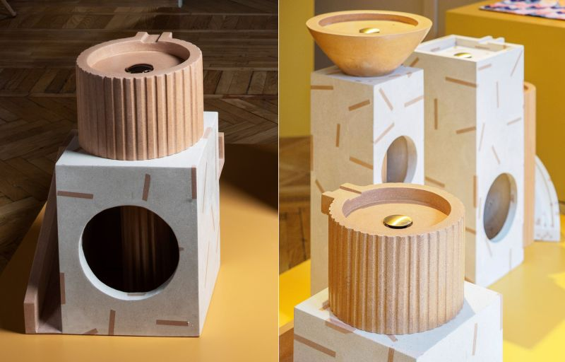 Teo Yang Studio and Huguet Creates Trio of Contemporary Birdbaths