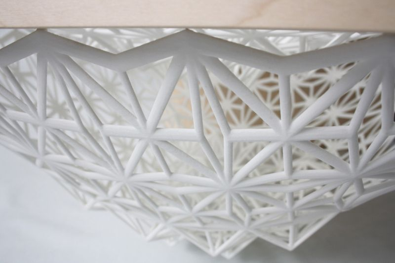 Star Coffee Table by Line Pierron Combines Wood and 3D Printed Nylon Elements