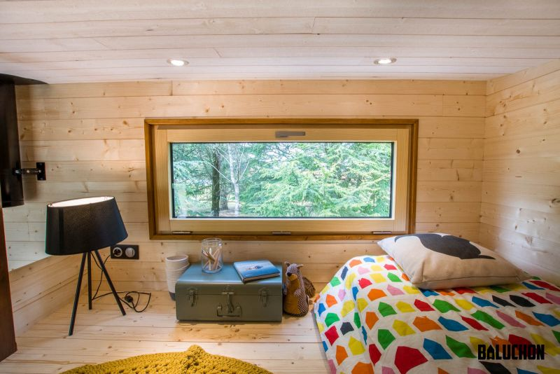 Baluchon Builds Astrild tiny house with Two Separate Loft Bedrooms