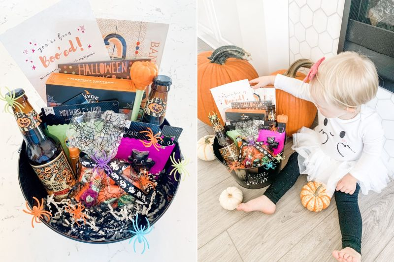 Boo baskets for Halloween