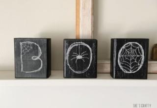DIYer Shares Easiest Way to Make Halloween Chalkboard Signs