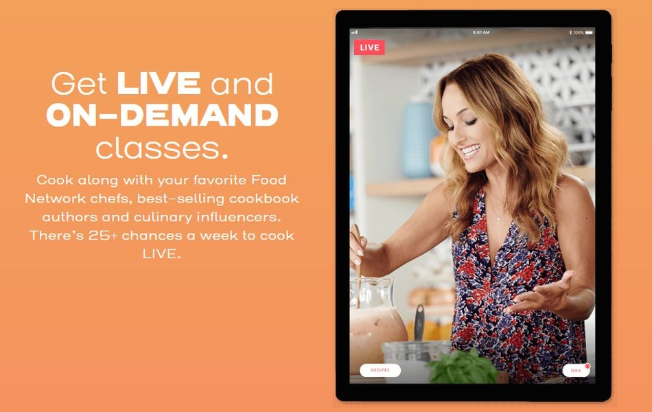 Discovery's Food Network Kitchen service is Now Available in the US