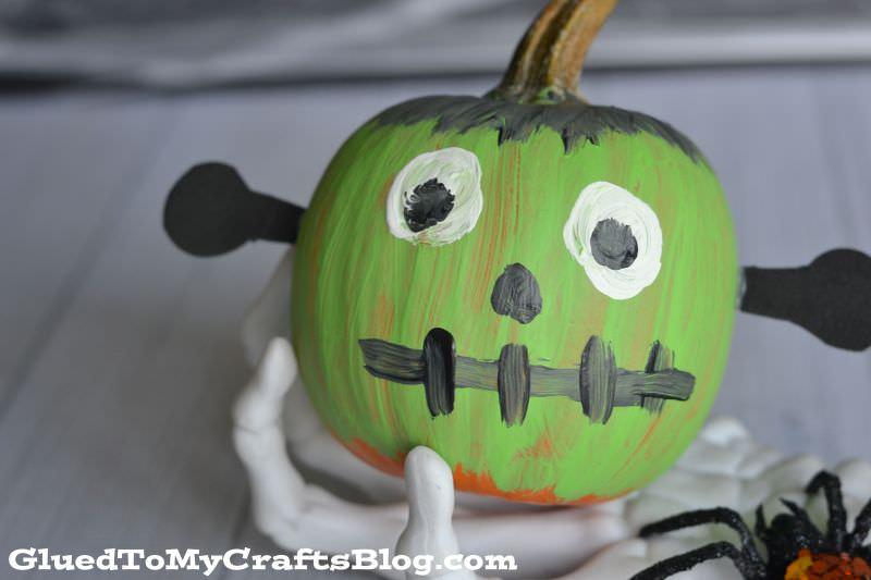 Frankenstein pumpkin painting