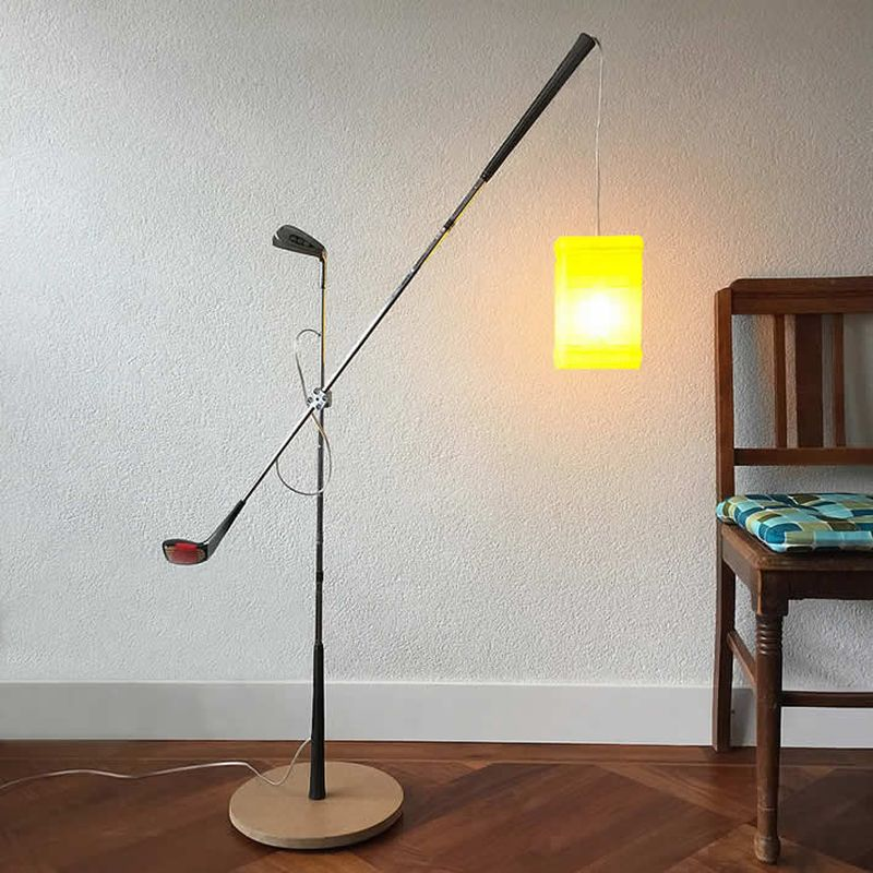 Gilbert de Rooij Upcycles Old Golf Clubs into Floor Lamp