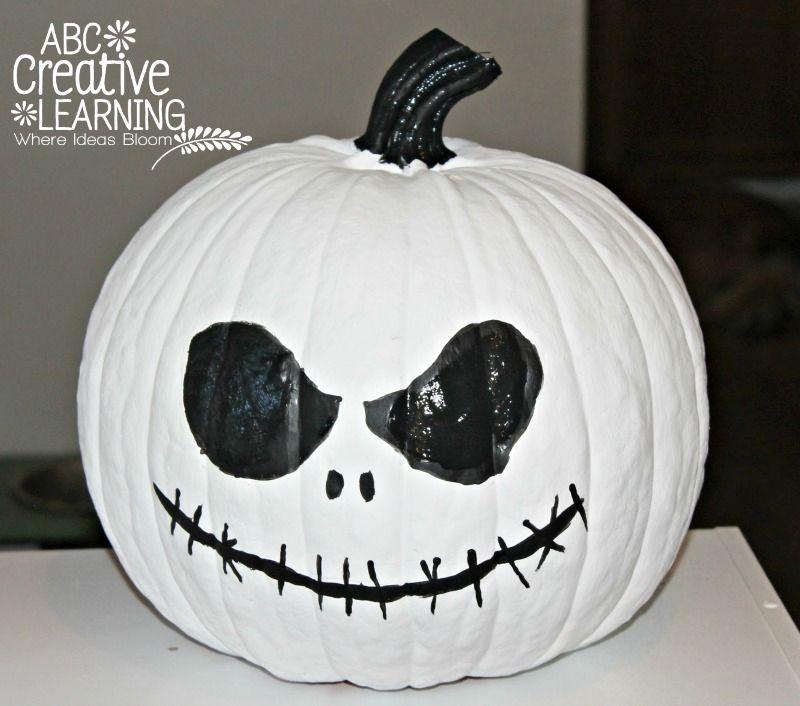 Jack Skellington pumpkin painting