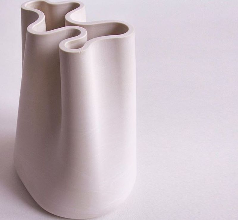 Jumony Tabletop Sculptures Highlight Elegant Volumes of Fabric Ruffles