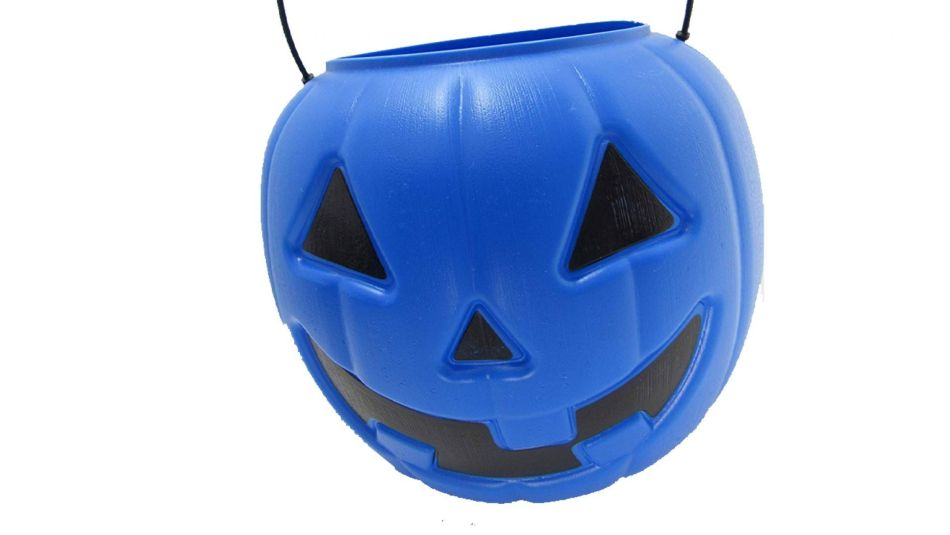 Mom's Post Raised Awareness Saying Blue Halloween Bucket for Autism