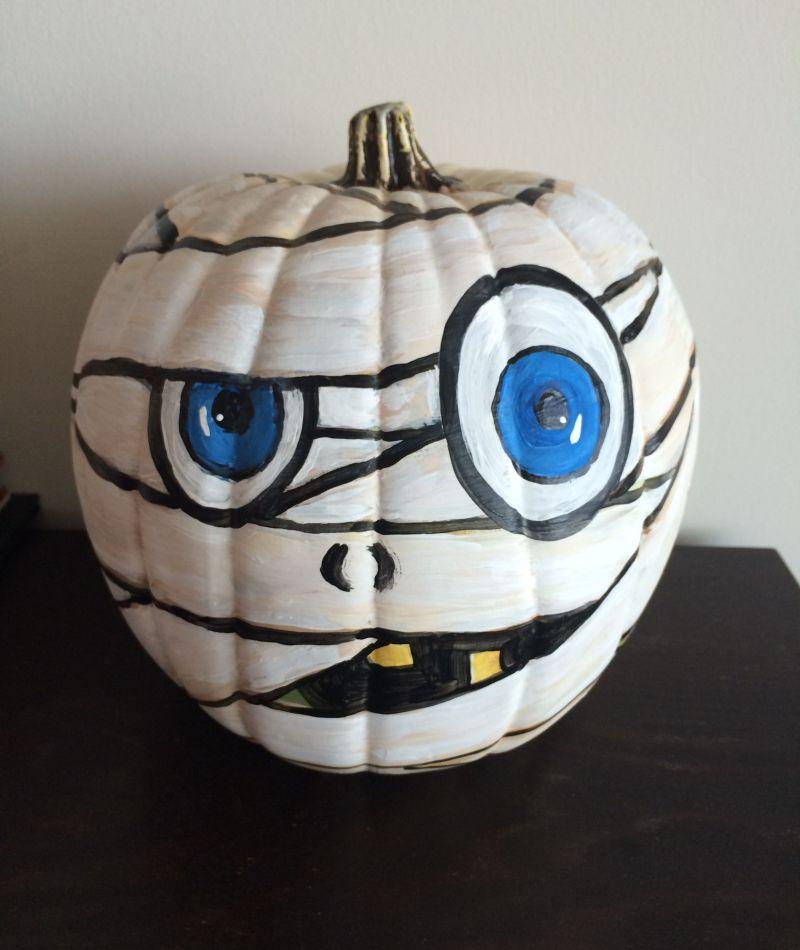 Mummy painted pumpkin