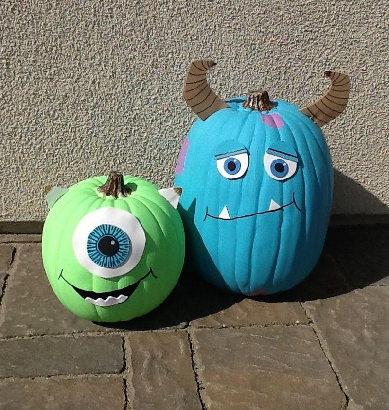 Painted monster pumpkin