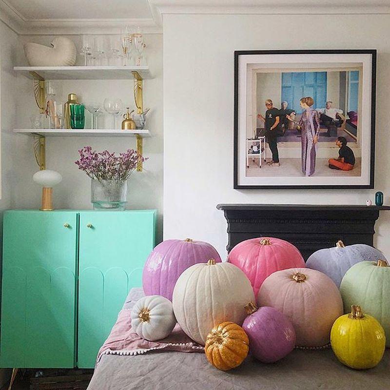 Pastel pumpkins for Halloween