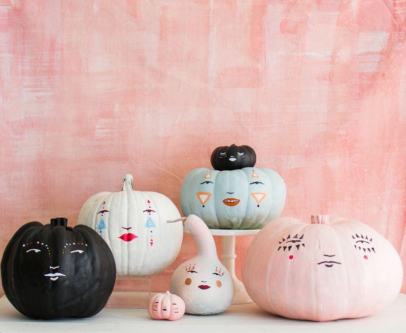 Pumpkin with cute faces