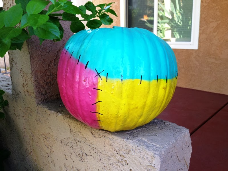 Sally painted pumpkin