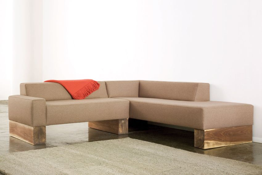 Sentient's SHIMNA Beam Sofa for Rustic Style Living Room