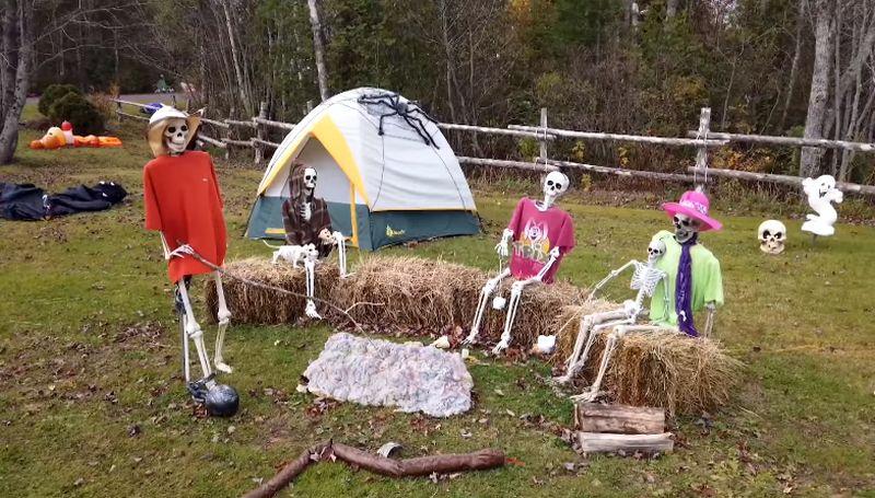 Spooktacular Halloween Display at Wellington House