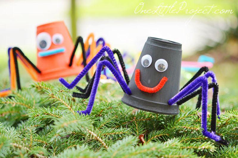 Styrofoam cup spiders