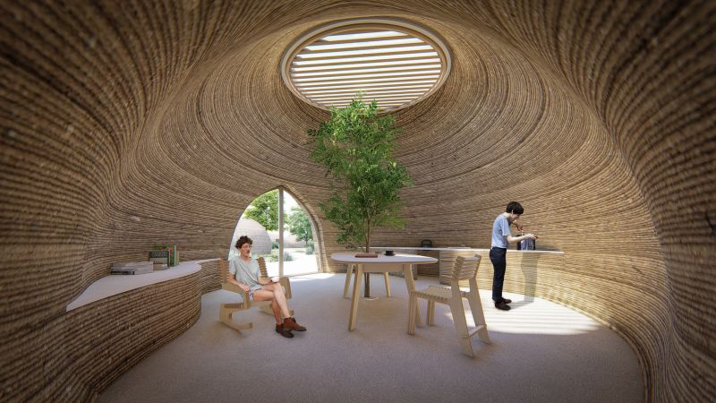 WASP's 3D Printed Mud House in Bologna, Italy