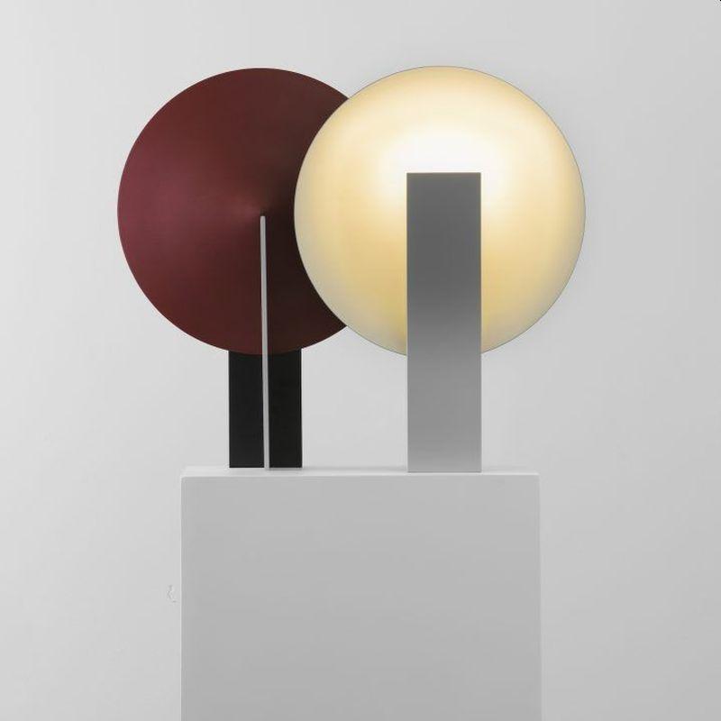 Classic Geometric Design of Orbe Table Lamp Provides Soft Illumination