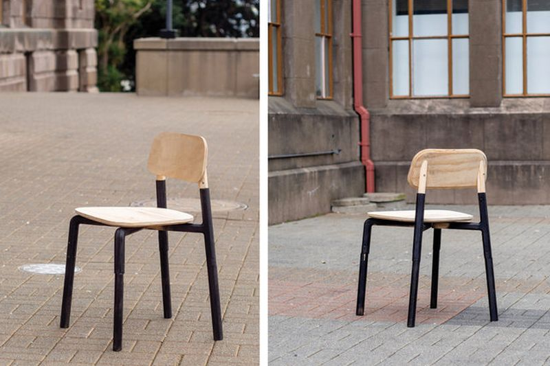 Click Flat-Pack Chair by Will Cook can be Assembled in Minutes