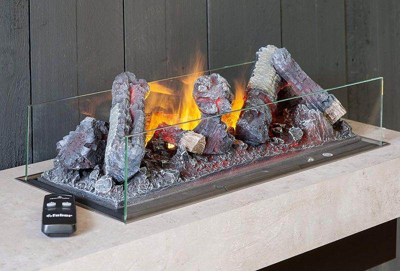 Dimplex Concrete Shelf Opti-Myst is perfect for Sleek Minimalist Interiors