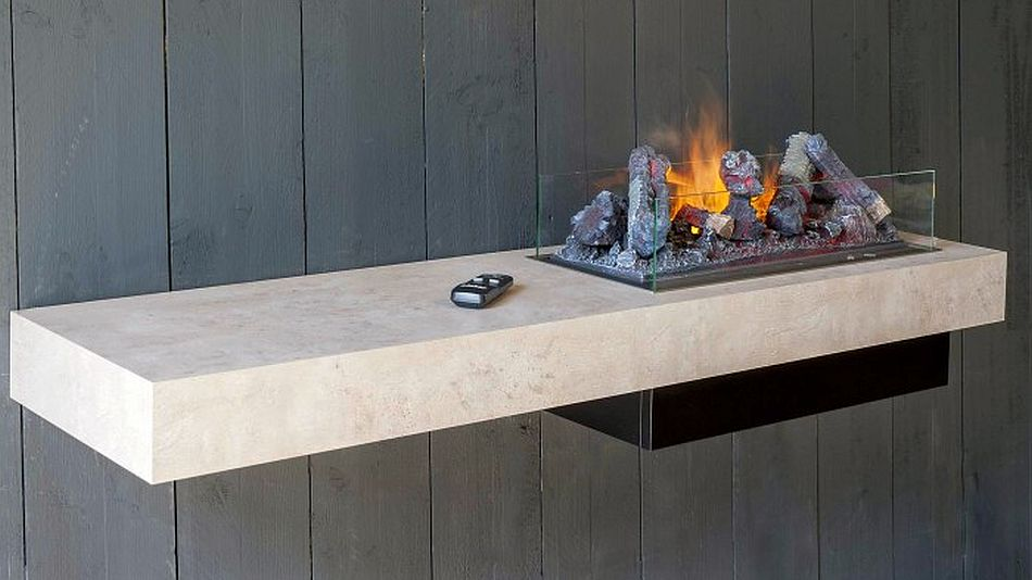 Dimplex-concrete-shelf-fireplace