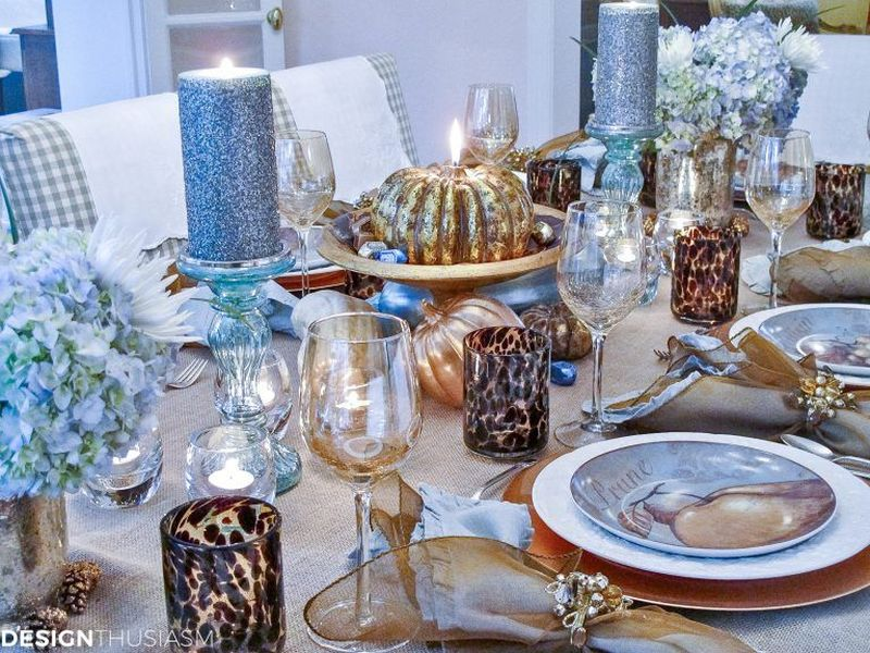 Inexpensive Thanksgiving table décor ideas