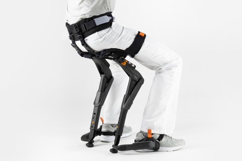 Noonee's Chairless Chair 2.0 with Improved Comfort and Materials