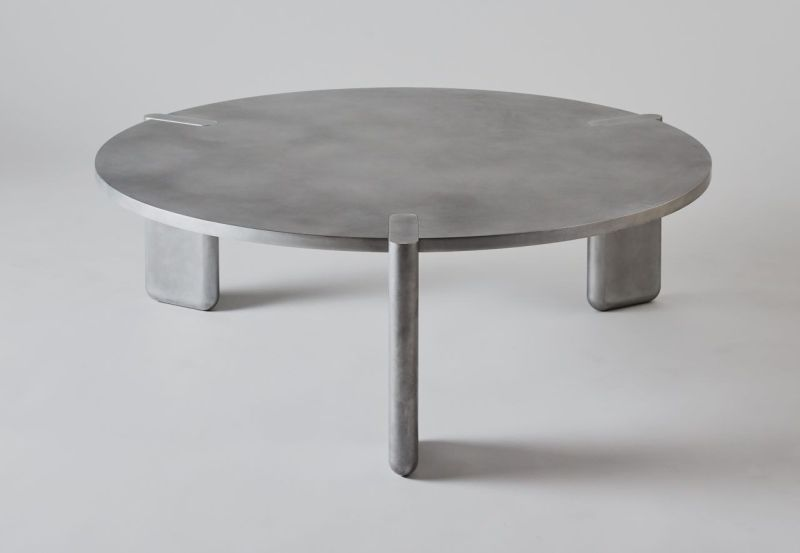 Pelle Designs's DVN Table is made of Thin Aluminum Pieces