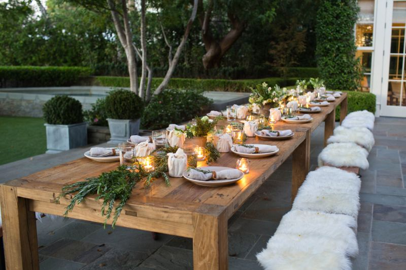 Rosemary-inspired Thanksgiving table décor