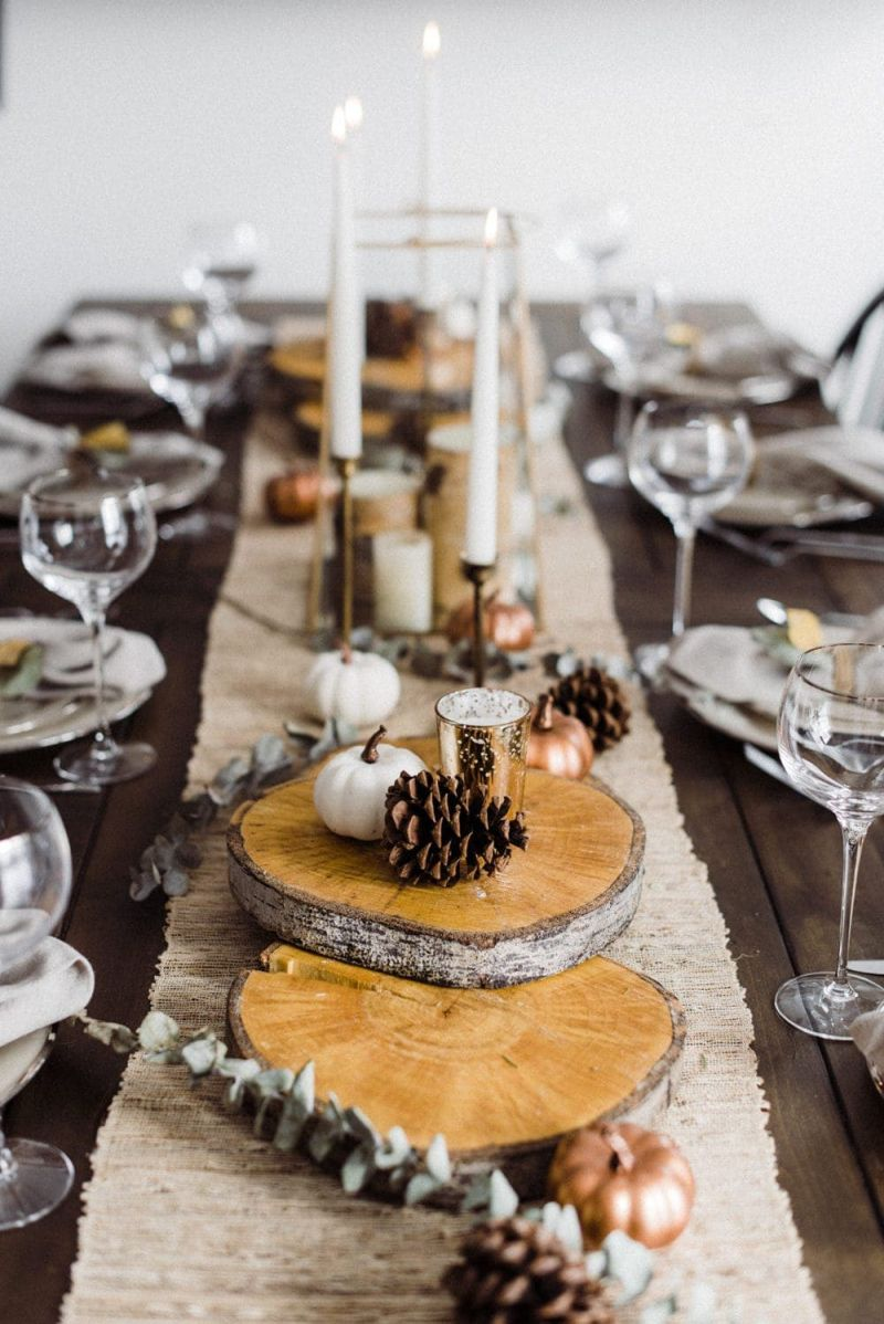 Rustic Thanksgiving table decor