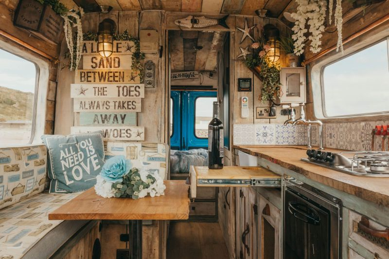 Supertramped Co. Converts Old Van into Bohemian-Inspired Mobile Home