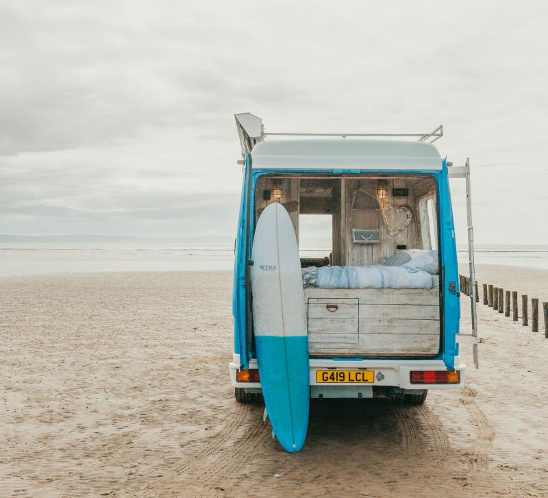 Supertramped Co. Converts Old Van into Bohemian-Inspired Beach Hut on Wheels