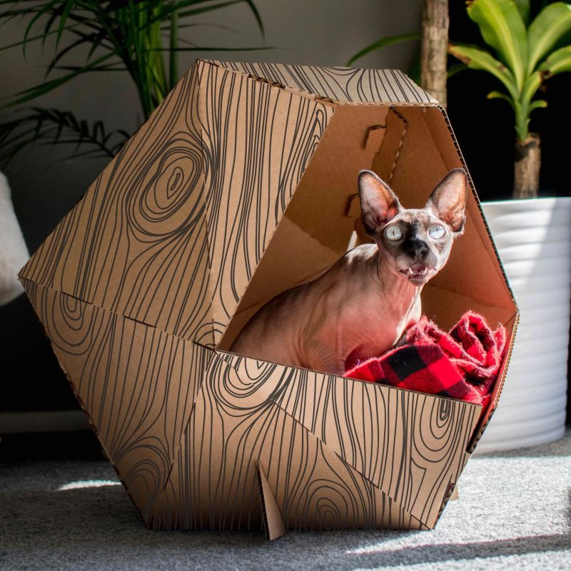 These DIY Cardboard Pet Homes in Unique Shapes will Suit any Interior Style