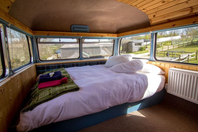 This Stunning Double Decker Glamping Bus in Wales is Perfect Getaway