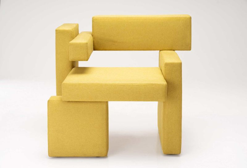 Yellow Brick Chair by Sivak & Partners Boasts Abstract Design