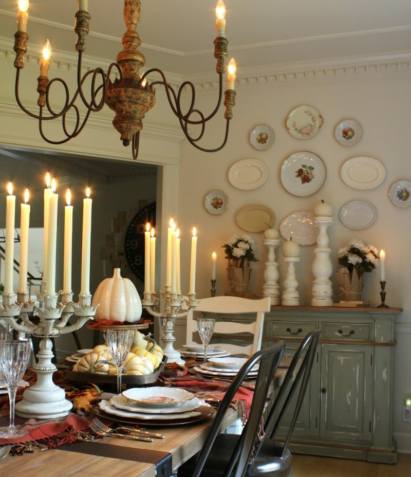 diagonal Thanksgiving table ideas