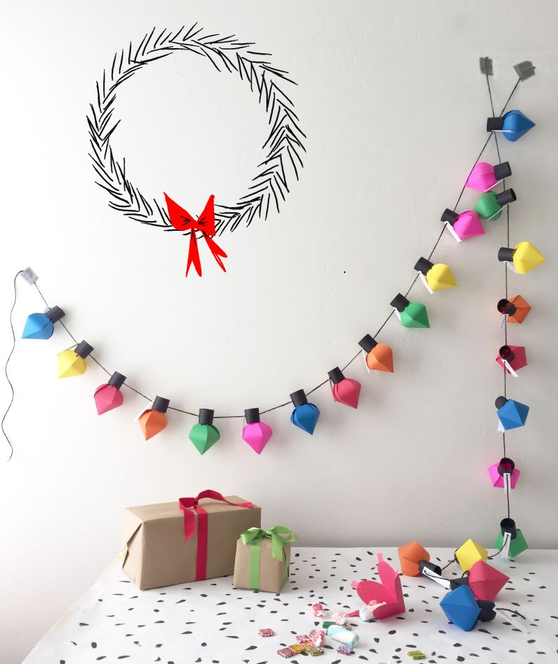 Advent DIY Christmas garland
