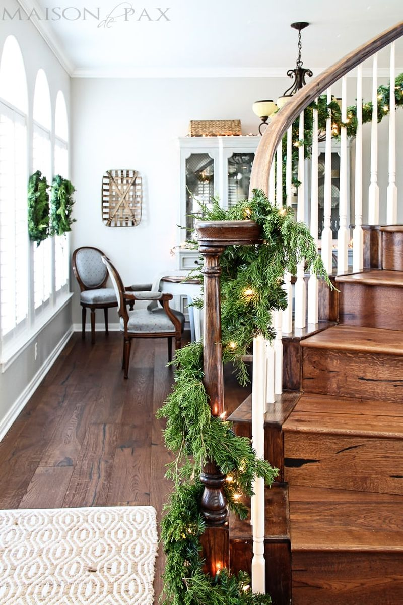Christmas staircase decor ideas