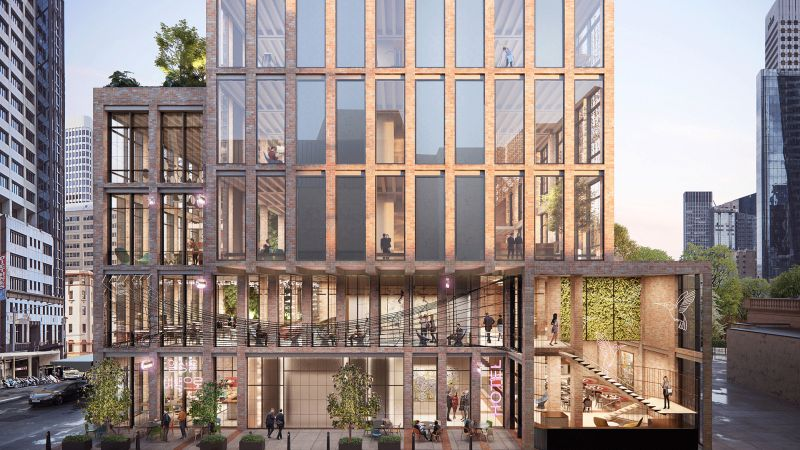 Crone's Recycled Brick Design Wins Competition for Construction of $250m 375 Pitt Street Hotel
