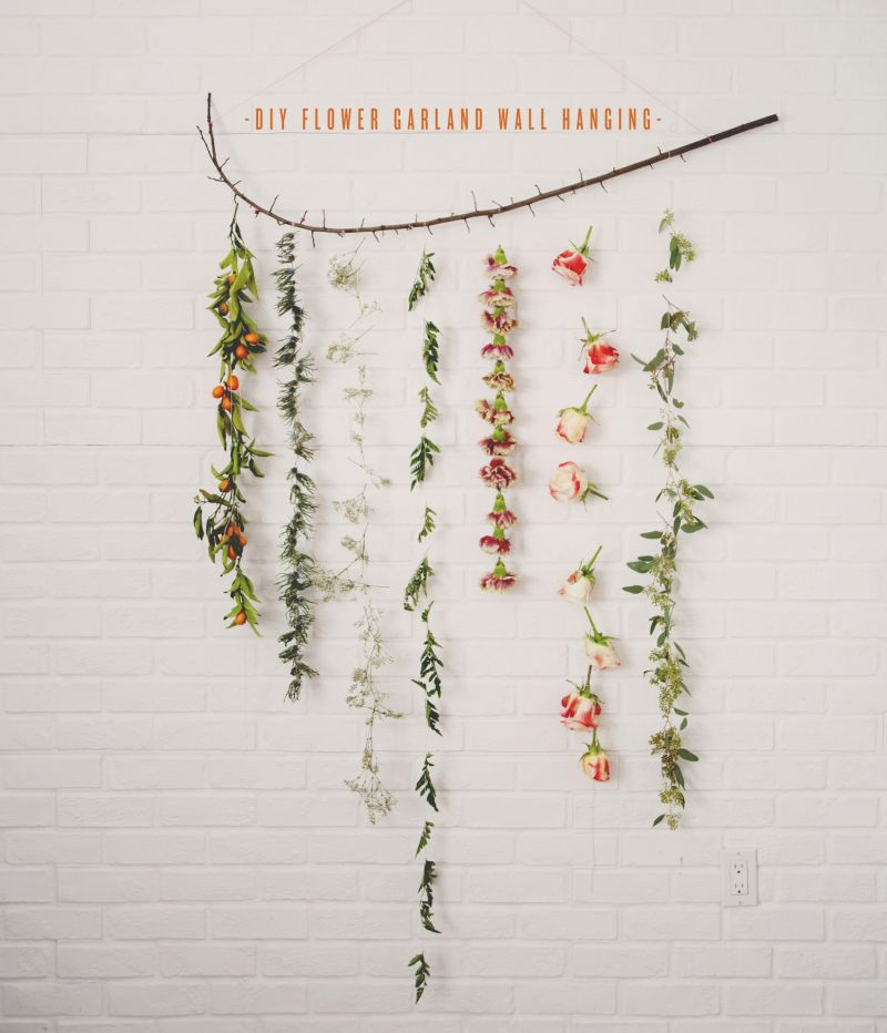 DIY Christmas garland from flowers