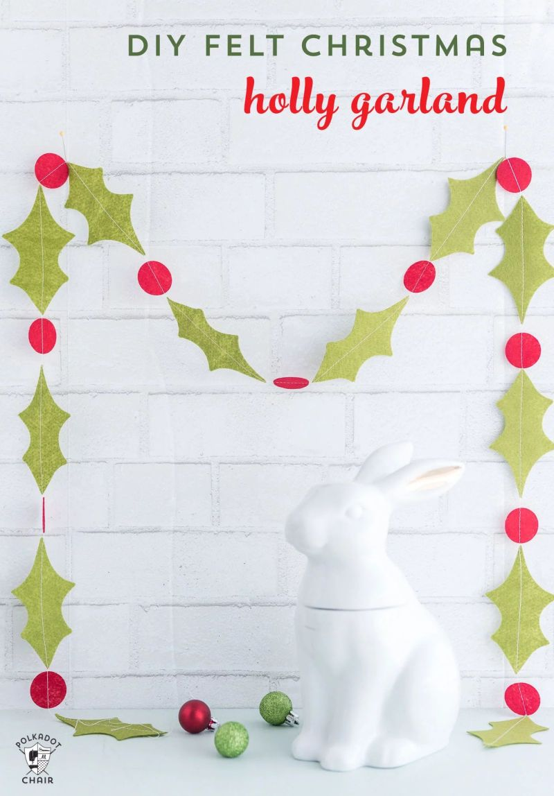 DIY Felt christmas-garland
