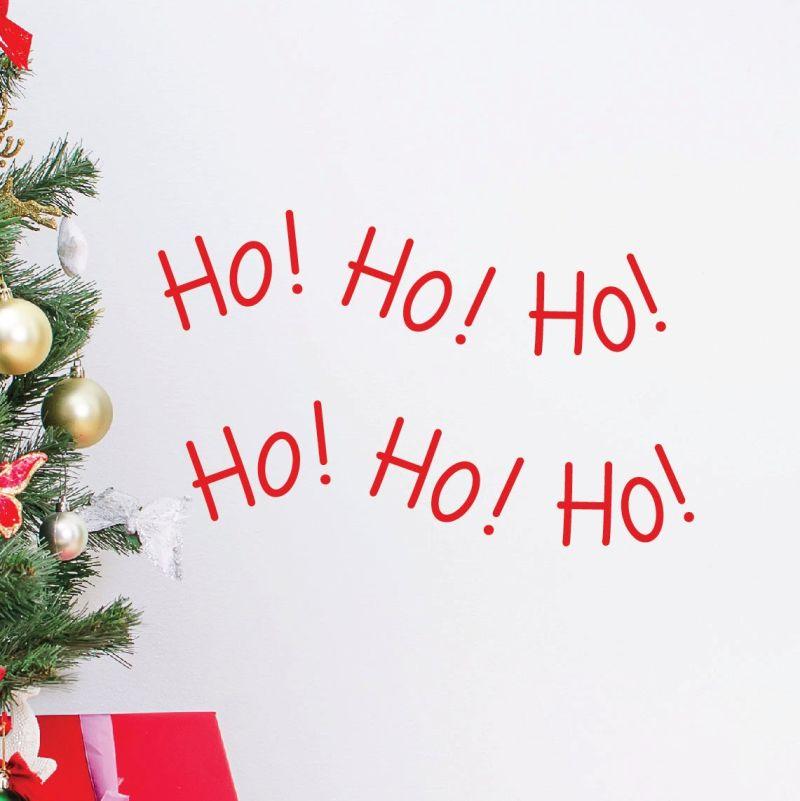 Ho Ho Ho Christmas quote wall decal
