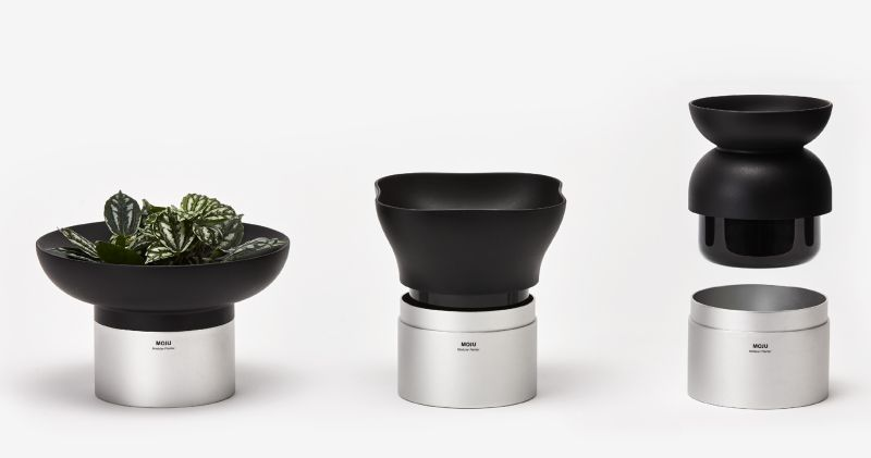 MOJU Modular Indoor Planters by Ponti Design Studio
