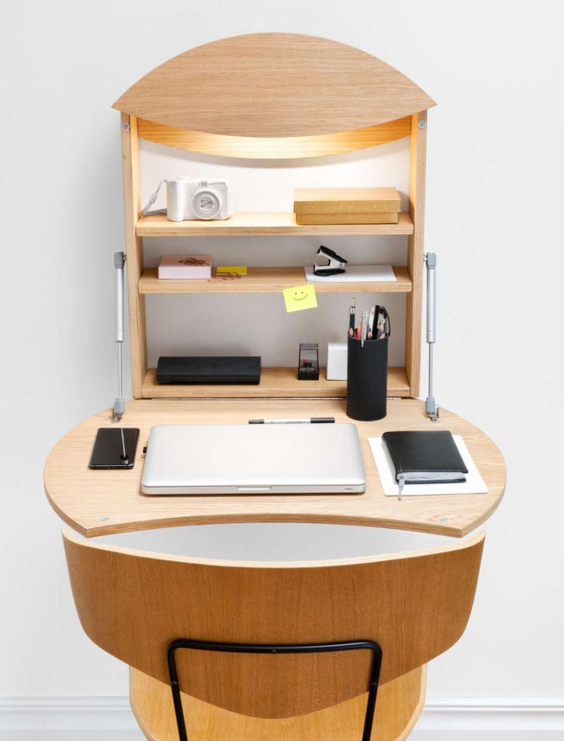 Michael Hilgers Designs Radius Wall-Mounted Work Desk for Radis