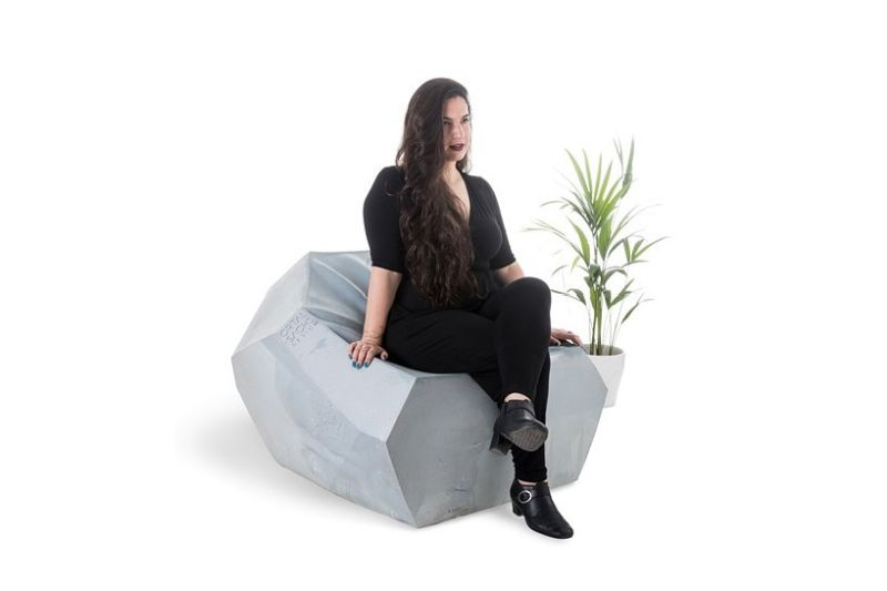 Ortal Sachs Designs Marbella Chair from a Material That Looks like Stone