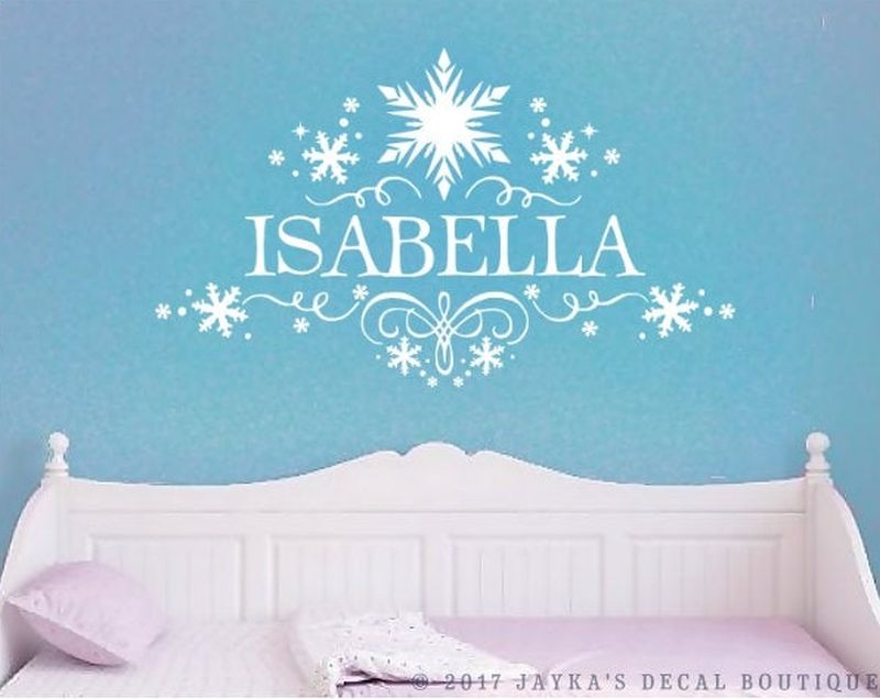 Personalized snowflake Christmas wall decal