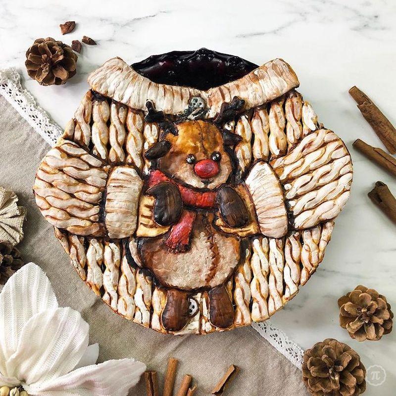Self-Taught Baker Made Adorable Baby Yoda Pie for Holiday Season