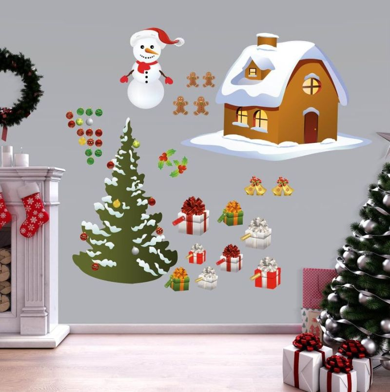 Set of different Christmas wall decals