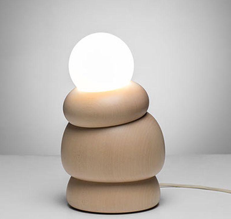 Studio Sein, Hermann Viehauser Creates Posable Wooden Table Lamp