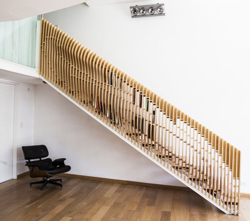 VG Studio Designs Staircase Handrail that can Store Books
